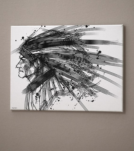 StrokeattitudeMan Art Canvas print 12x16inch Jimmy Tan by eggmost #indian #art #fine