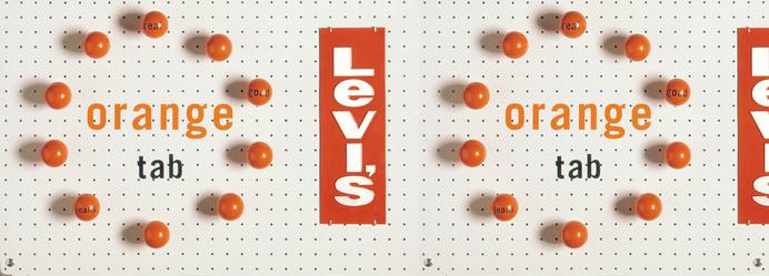 Levi's Orange Tab   Werner Design Werks #fashion #levis #advertising