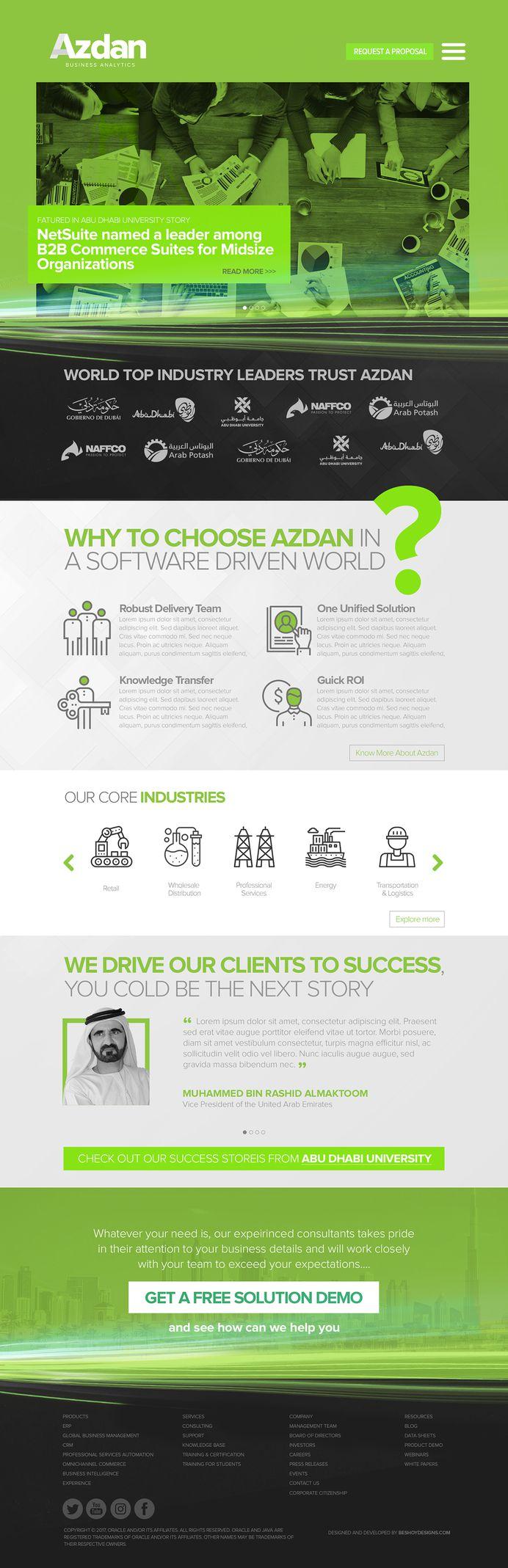 Azdan / Website Design and Development on Behance