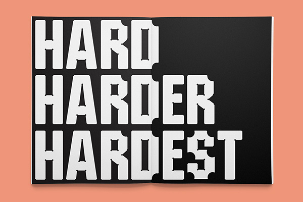 Hardy — A display typeface on Behance #type #font
