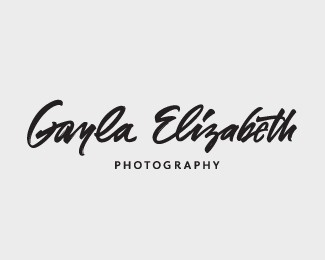 Gayla Elizabeth photography #logotype #handwriting #handwritten #logo #typography