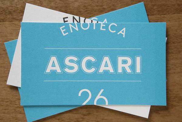 Enoteca Ascari on Behance #card #identity #business #restaurant