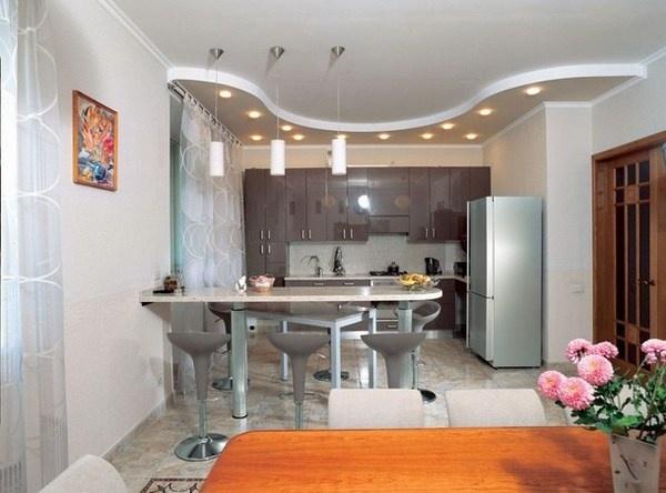 Kitchen interior with still life painting