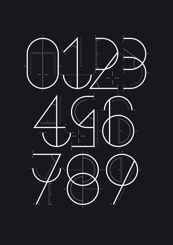Numerografía - Yorokobu on the Behance Network #numbers #craft #typography