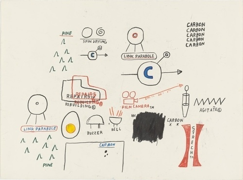 MoMA | The Collection | Jean-Michel Basquiat. Untitled. (1985) #michel #american #basquiat #jean #drawing