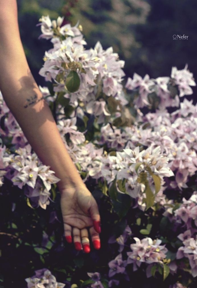 """"""" As I will, So mote it be ! """" ▲ #divine #red #feminine #hand #women #tattoo #arm #flowers"""