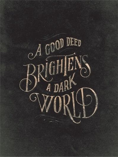 Help Ink — Good Deeds #print #poster