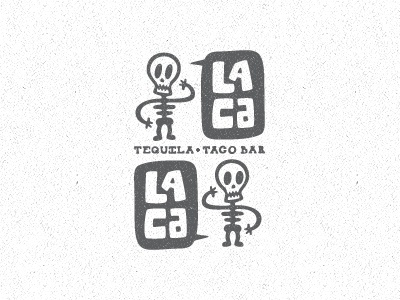 Dribbble - Lacalaca New Direction by Matt Vergotis #logo #illustration #branding #skeletons