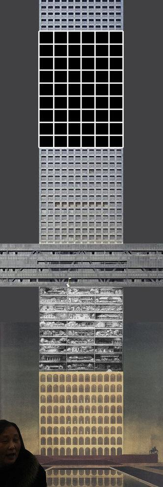 Padiglione Italia. Innesti/ Grafting - Ambienti taglia e incolla, CARMELO BAGLIVO #urban #illustration