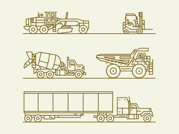 Vehicles #icon #picto #line