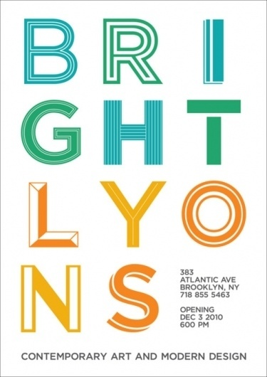 ++ #bright #tida #tep #gotham #lyons #postcard #brooklyn #typography