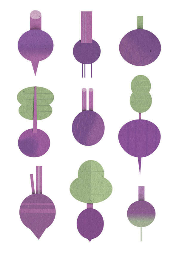 Different Beets #beetroot #diet #health #food #geometric #illustration #minimal #purple