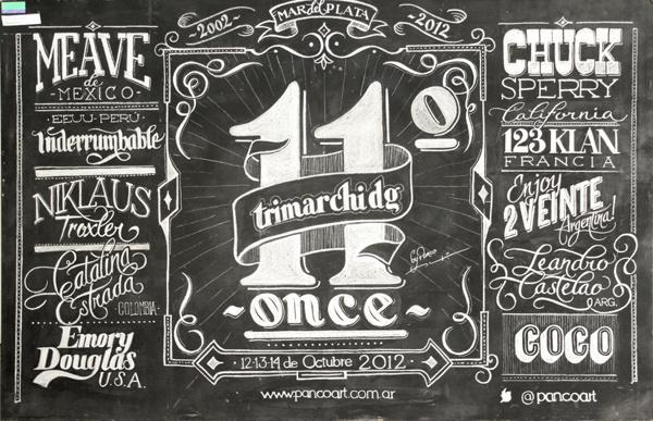 Chalk typography by Panco Sassano #panco #sassano #chalk #typography