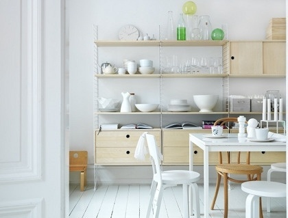 design is mine : isn't it lovely?: gorgeous swedish homes... #dining #shelving #storage #swedish #scandanavian