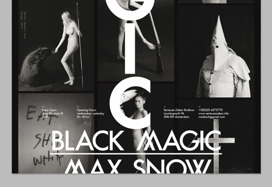 OK200 / Graphic Design Studio / Amsterdam / Max Snow / Black Magic #magic #black