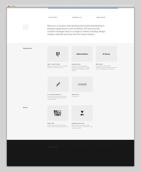 Mauva #design #website #grid #layout #web #grey