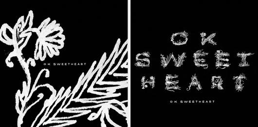 Justlucky | Print, Branding and Typography #album #white #black #melton #illustration #drew #art #music #type #justlucky