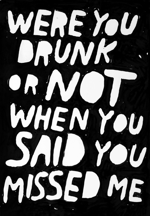 Work : Stefan Marx #white #& #black #missing #drunk #typography