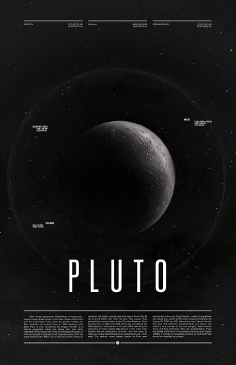 Pluto - Under the Milky Way - Ross Berens #pluto #space #posters #typog #planets #typography