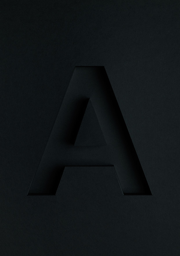 Atype on Behance #letter #craft #deboss #type #paper