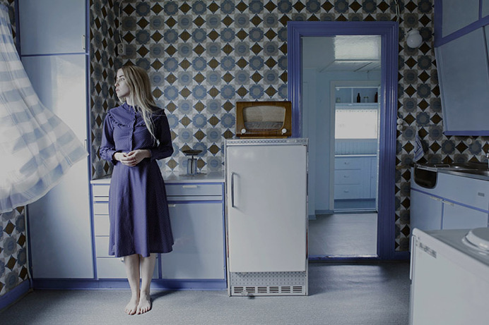 Beautifully Haunting Self-Portraits That Are Filled with Emotion - My Modern Met #interior #pattern #photo #retro #blue #wallpaper