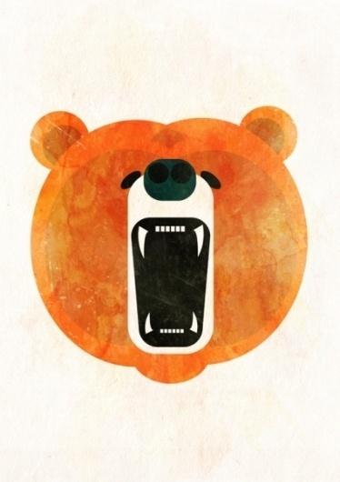 Animals : Alvaro Tapia Hidalgo #bear #illustration #art
