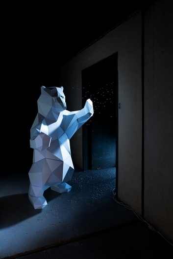 Artic on the Behance Network #bear #design #paper