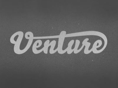 Dribbble - Venture by Mackey Saturday #type #lettering