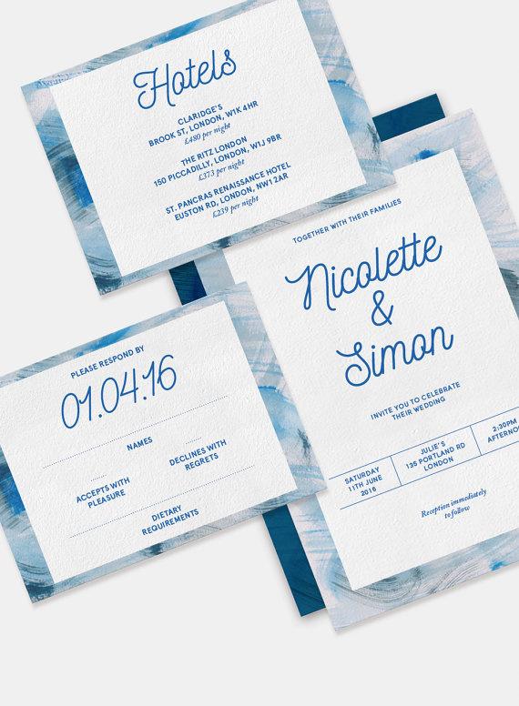 #wedding #invitation #watercolour #typography #minimalist #contemporary #designer #paper #craft