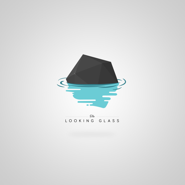 The Looking Glass #design #poly #brand #identity #logo #low