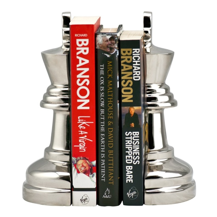 Beale Aluminium King Chess Book Ends