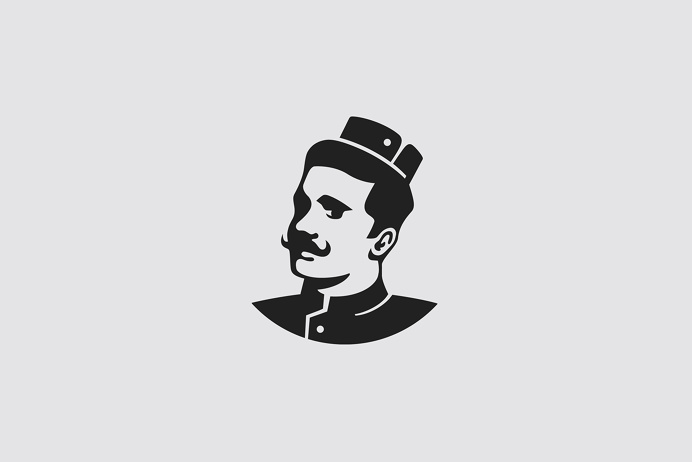 Groom on Behance #Logo #Mark #Branding #Person #Monsieur #Man #Beard #Identity #symbol