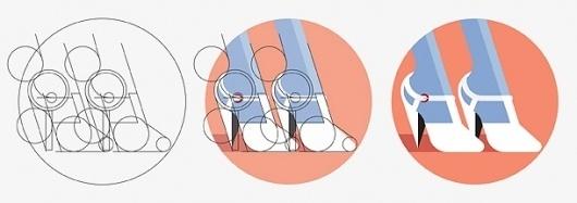 Erica Dorn #diagram #illustration #geometry #shoes