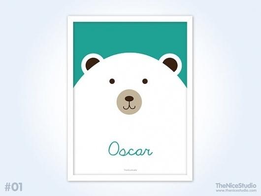 Personalised Baby Print Big Polar Bear by thenicestudio on Etsy #polar #print #illustration #poster #custom #cute #bear #typography