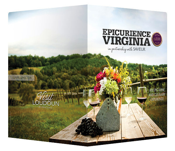Epicuriance Virginia Wine Festival Folder (Front and Back View) #festival #folders #presentation #wine #virginia #folder