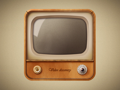 old television #icon #television #design #retro #lights #illustration #app #vintage
