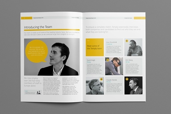 Annual Report Template on Behance #annual #report