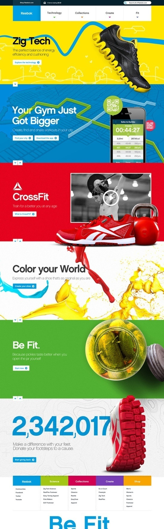 Reebok #user #page #design #interface #one #web #3d