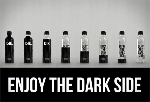 Black Spring Water Is Healthy; Looks Disgusting #water #packaging #blk #mineral #dark