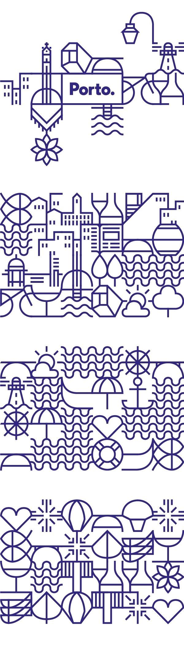 New identity for the city of Porto on Behance #illustration