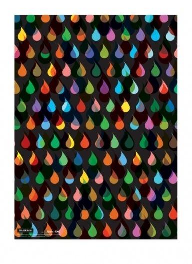 Tips til indretning, Køb grafisk designplakater til væggen, Gode ideer til boligen, Grafiske mønstre, Typografiske plakater. #rain #colour #art #poster #patterns