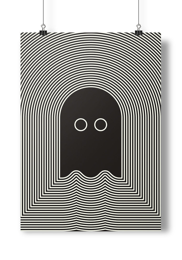 Poster Project #ghost #white #black #illustration #shiver #poster