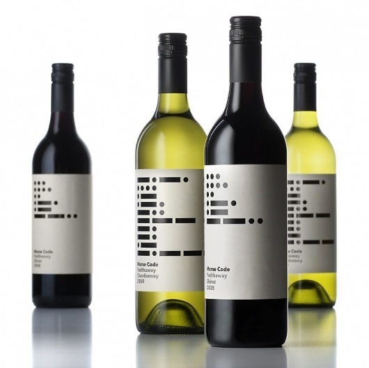 Packaging Work by Parallax Design #morse #code #wine