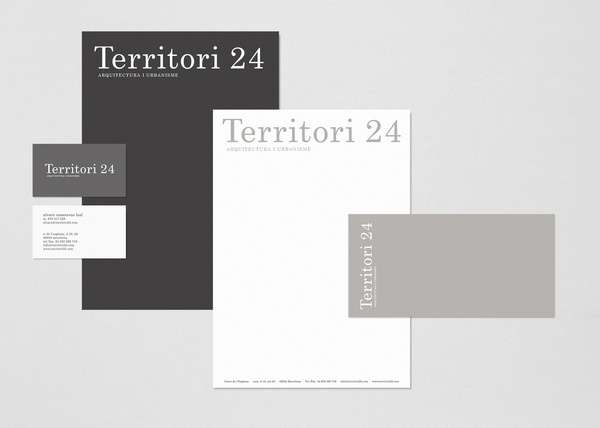 Territori24 #estudi #white #stationery #design #graphic #torras #black #territori24 #conrad #architecture #barcelona #gray #typography