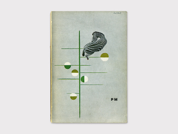 Display | PM Journal Paul Rand | Collection #graphic design #vintage #cover #magazine #zebra