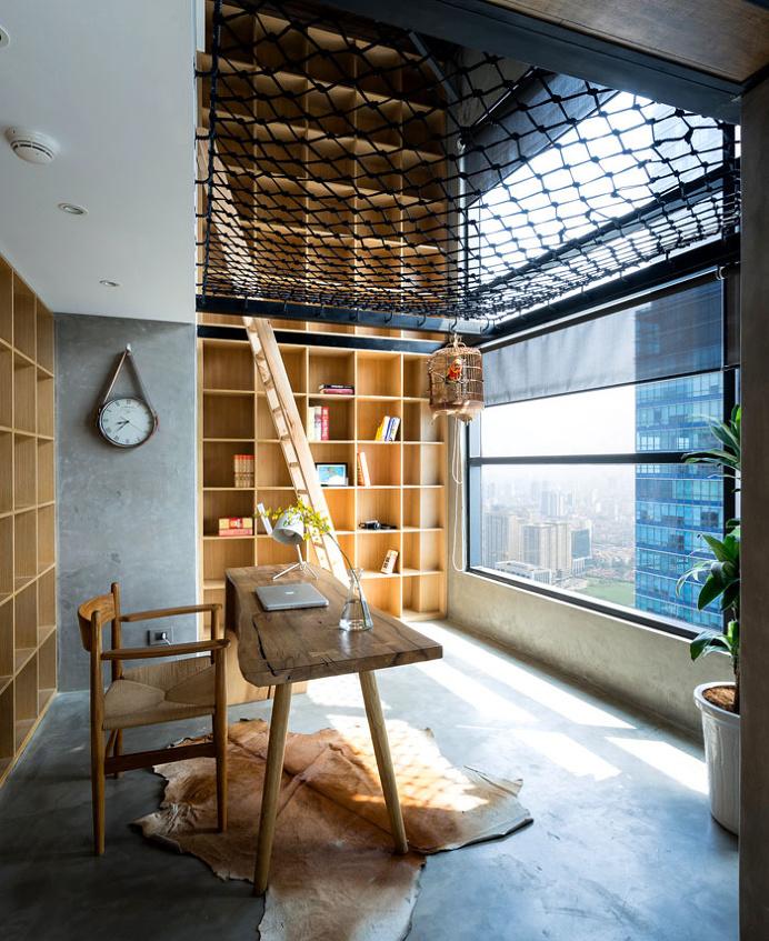Residence in Hanoi in Trendy Dark Palette and Wooden Cladding - InteriorZine