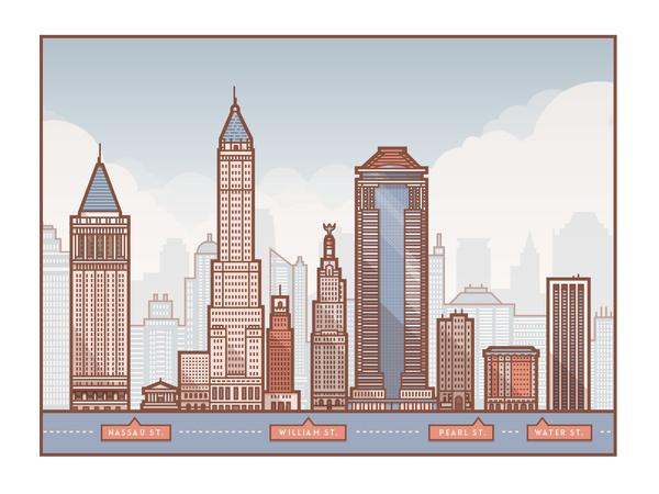 Wall_street_3 #houses #city #illustration