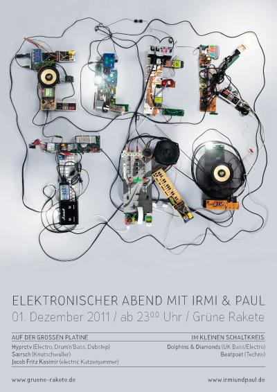 Elektronischer Abend | art knock life #electro #lettering #elektro #crafting #poster #trash #type #party