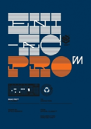 Eniac Pro Font / Official Classic on the Behance Network #print #retro #orange #vintage #poster #blue #typography