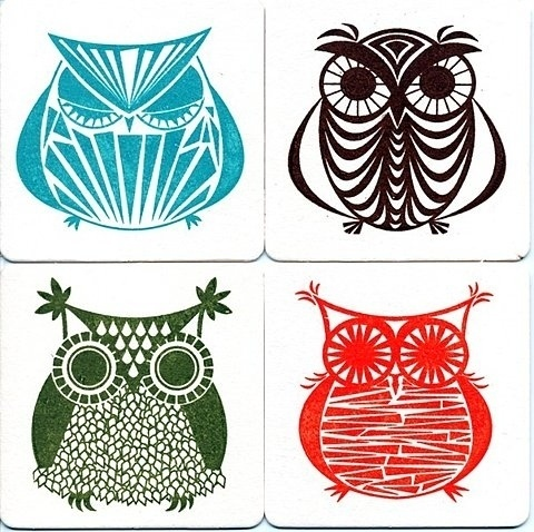 Google Reader (226) #owl #icon #design #retro #illustration #coaster